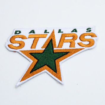 Dallas Stars Patch.....Iron On about 3.5 x 2.25 inches