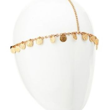 Rhinestone & Coin Goddess Headpiece by Charlotte Russe - Gold
