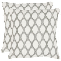 Kendell Pillows, Gray, Set of 2, Decorative Pillows