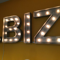 "24"" Inch Zinc Marquee Letter - Letters A B C D E F G H I J K L M N O P Q R S T U V W X Y Z"