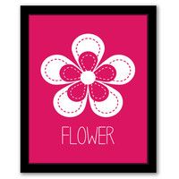 Flower Wall Art, Nursery Wall Art, Dark Pink, Kids Room, Girls Room, Playroom Decor, Girls Nursery, Playroom Art, INSTANT DOWNLOAD