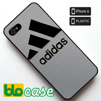 Adidas Logo on Steel Mesh Titanium Iphone 6 Plastic Case
