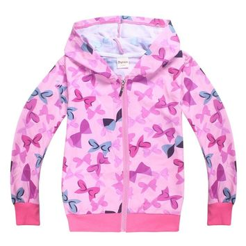 JOJO siwa pink Bowknot children clothing girl ropa de cardigan sweater baby spring autumn cotton jacket bebe hello kitty hoodie