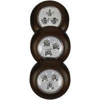 Light It! 30010-303 Stick-on-Light 3 pk (Black)