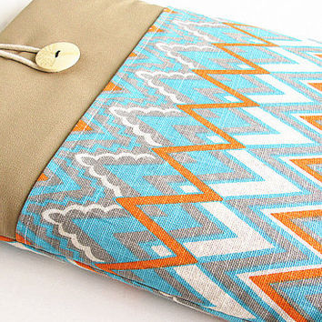 Chevron Macbook 11 inch Pocket Sleeve Macbook Air/Pro Case Padded 11 in Microsoft Surface case, Google Nexus 10.