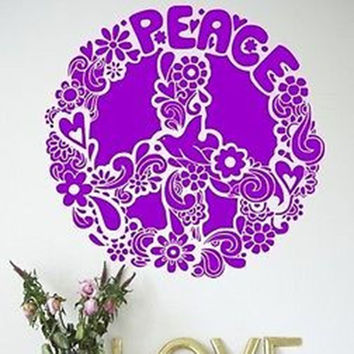 Peace Sign Vinyl Wall Decal Sticker