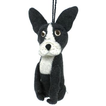 Felt Frenchie Dog Ornament