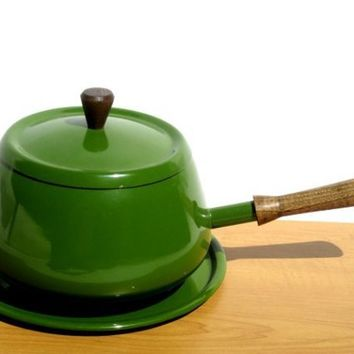 Vintage Green Retro Fondue Pot by Yesterdayand2day on Etsy