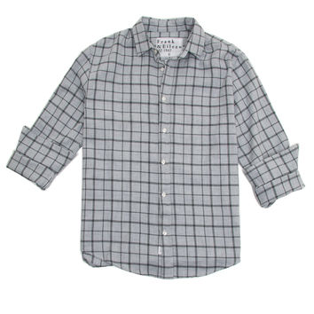 Frank & Eileen Light Grey with Windowpane Paul Shirt