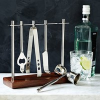 Deco Barware Collection - Silver + Wood