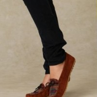 Minnetonka El Paso Suede Mocassin at Free People Clothing Boutique
