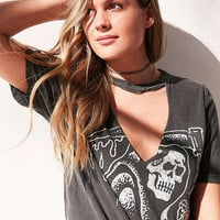 Truly Madly Deeply Cutout Moto Tee | Urban Outfitters