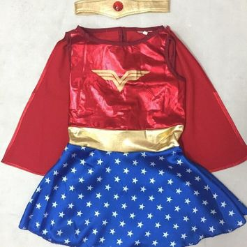Kids Halloween Costumes For Girls, Wonder Woman Costume Dress, Girl Anime Cosplay Clothing, Disfraces Carnaval