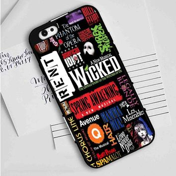Broadway Musical Collage iPhone Case