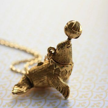 Long sea lion locket necklace nautical from freshy fig my long sea lion locket necklace nautical pendant vintage jewelry perfume carrier secret mozeypictures Image collections