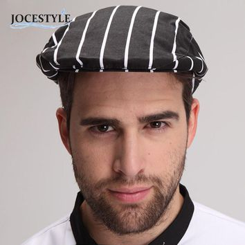 Hotel Restauran Cloth Plaid Striped Plain Chef Cook Hat Party  Uniform Beret Plaid Striped Plain Kitchen Cooking Hat