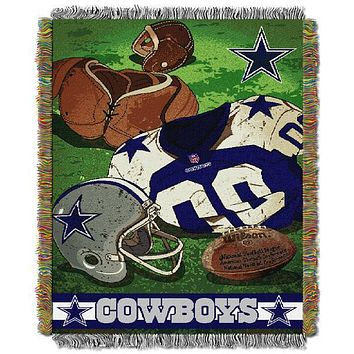 "Dallas Cowboys NFL Vintage 48""x 60"" Woven Tapestry Throw"