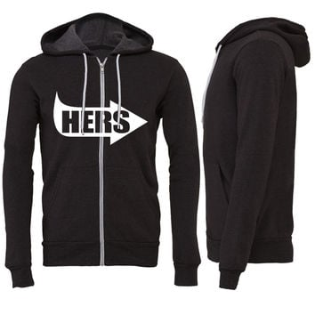 Hers Pointing RIght Zipper Hoodie