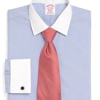 Supima® Cotton Non-Iron Traditional Fit End-on-End French Cuff Dress Shirt - Brooks Brothers