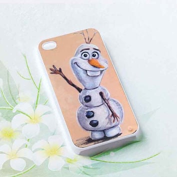 Olaf from Disney Frozen customized for iphone 4/4s/5/5s/5c, samsung galaxy s3/s4/s5 and ipod 4/5 cases