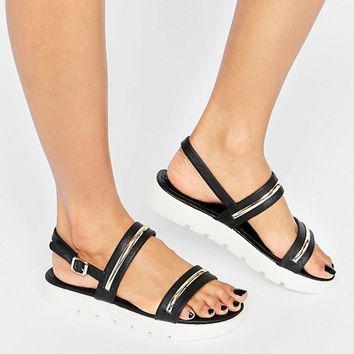 ALDO Needle Flatform Flat Sandals at asos.com