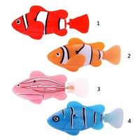 Funny Swim Electronic Robofish Activated Battery Power Robo Toy Fishes Robotic Pets for Fish Tank Decor Fish