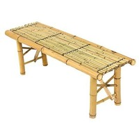Best Choice Products Bamboo Bench Tiki Tropical Coffee Table Bench Patio Room Bar Outdoor New