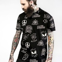 Downer All-Over Print T-Shirt