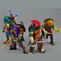 NECA Toy 4 pieces/lot Teenage Mutant Ninja Turtles PVC Action Figure TMNT Model Brinquedos Christmas Gift