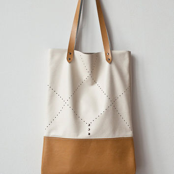 Tan Perforated Tote bag No. TL- 5002