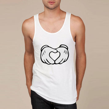Mickey Mouse Hands Heart Tank Top