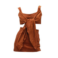1980s Vivienne Westwood Leather Corset and Mini Skirt Ensemble