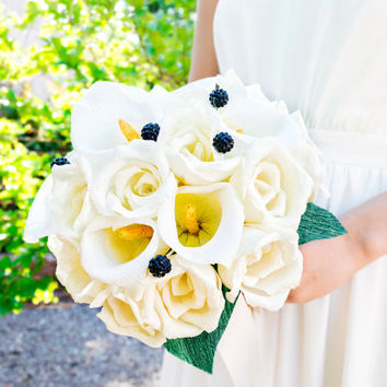 Handmade paper flower bouquet, paper flower, wedding bouquet, bridesmaid bouquet,  decoration, Summer, Spring, bridal bouquet