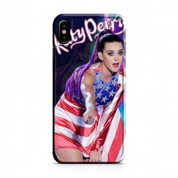 Katy Perry US flag iPhone X Case