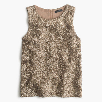 J.Crew Womens Collection Sequin Tank Top