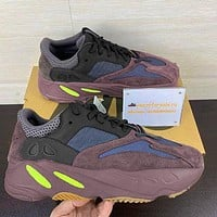 Adidas Yeezy 700 Boost Tide brand retro purple men's and women's sports running shoes