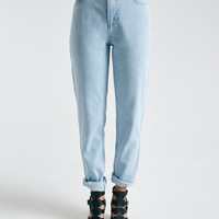Blue Asphalt High-Waisted Mom Jeans | Wet Seal