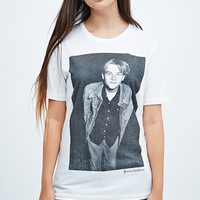 This is Welcome Girl Crush Leonardo Tee in White - Urban Outfitters