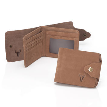 Men Leather Matte Wallet [9026235011]