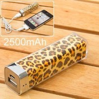 Amazon.com: Lip Gloss 2500mah Universal Mobile USB Power Bank Charger for Iphone 4 4s PSP: Cell Phones & Accessories