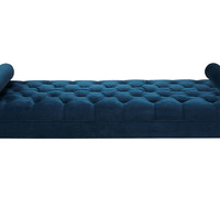 "Laura Tufted 83"" Daybed, Navy Velvet"