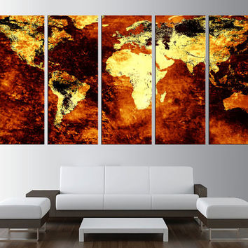 large canvas world map wall art canvas print, old world map wall art, large canvas art, extra large wall art, brown world map canvas t197