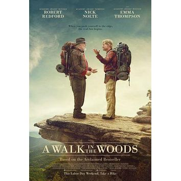 A Walk In The Woods Movie poster Metal Sign Wall Art 8in x 12in