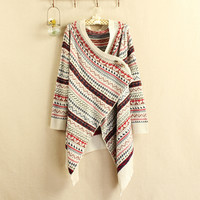 COLORFUL VINTAGE GEOMETRIC cardigan
