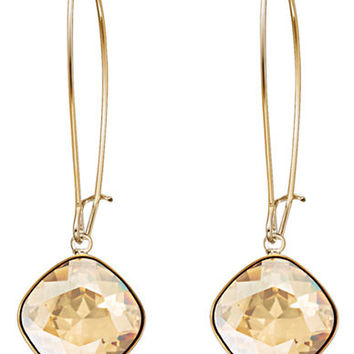 Swarovski Thankful Gold-Plated Crystal Drop Earrings