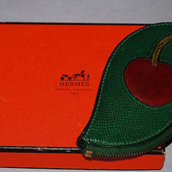 Authentic Hermes Fruit Coin Purse Cherry Highly Collectible
