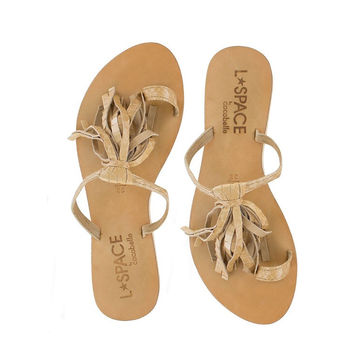 L*Space By Cocobelle - Fringe Sandal | Taupe