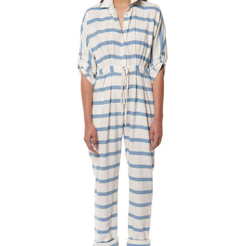mara hoffman drop sleeve jumpsuit