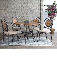 Baxton Studio Verona Wood and Metal Contemporary Dining Table
