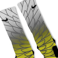 Wings 6 Customized Nike Elite Socks Fast Shipping!